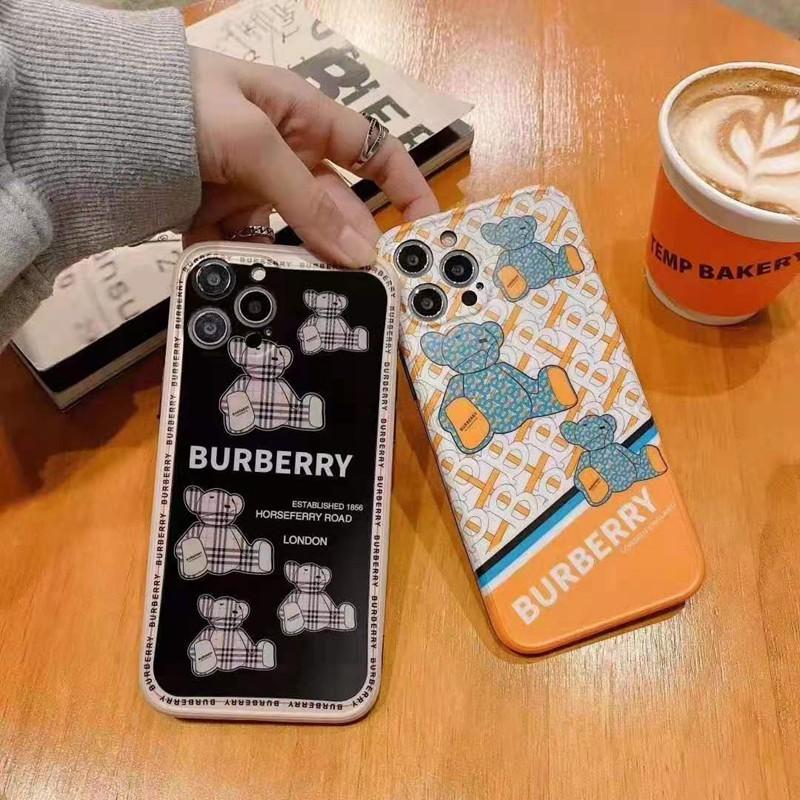 バーバリー ブランド Iphone 13 Pro Max/13miniケース 熊柄 ジャケット型 モノグラム BURBERRY