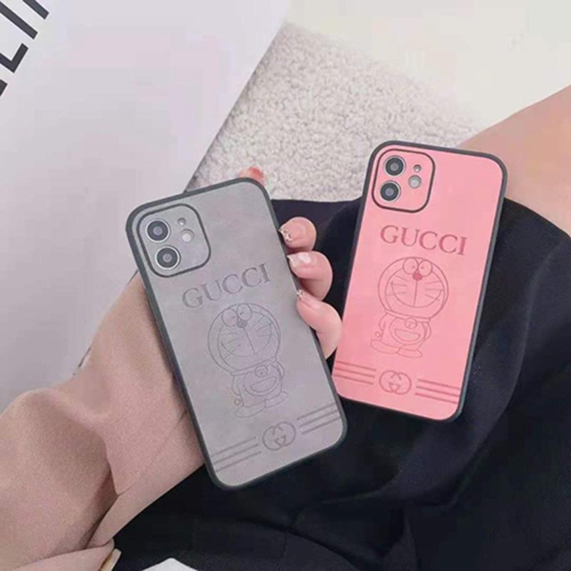 Gucci x Doraemon コラボ ハイブランド iphone13/12s/13 pro max/12 miniケース おしゃれ GGモノグラム