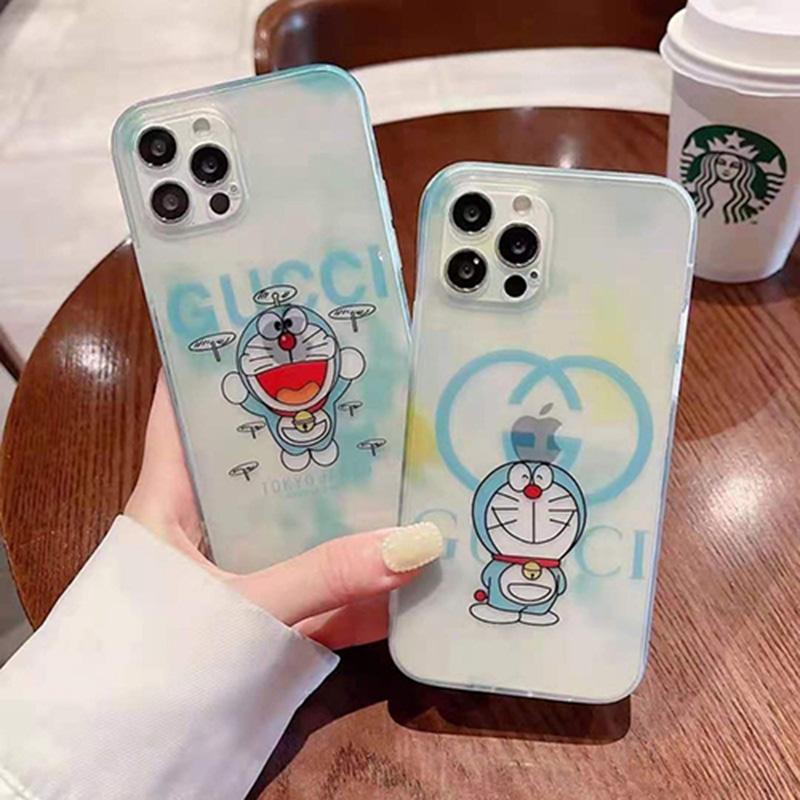Gucci x Doraemon モノグラム クリア ジャケット シンプル モノグラム アイフォン13プロ/12/11/x/8/7カバー