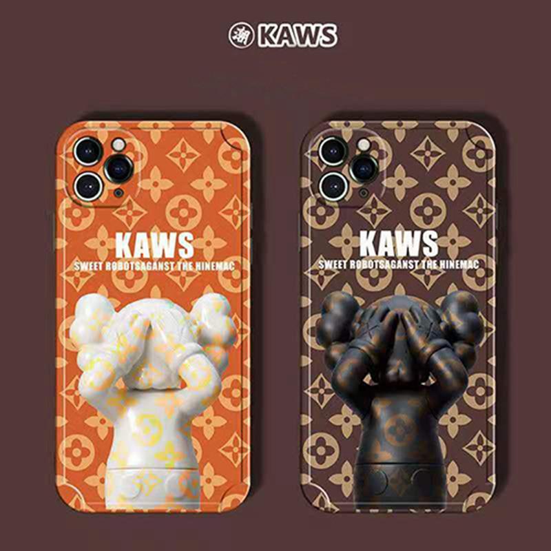 LV KAWS コラボ ハイブランド Iphone13 Pro Max/13 Miniケース おしゃれ ぬいぐるみ モノグラム ヴィトン カウズ