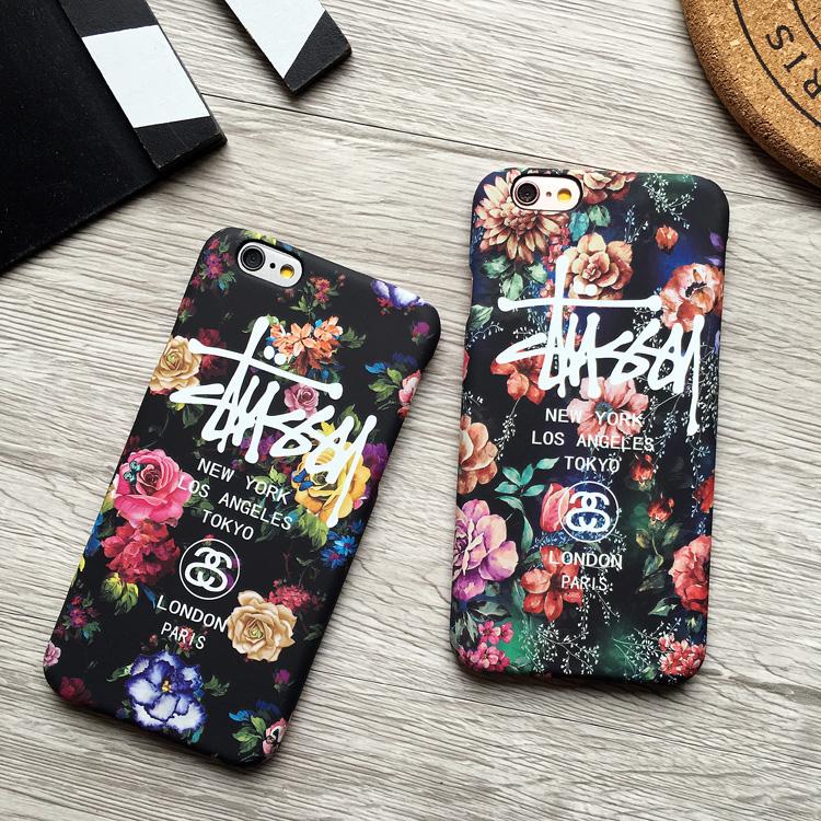 ステューシー iphone7/8ブランドカバー 花柄