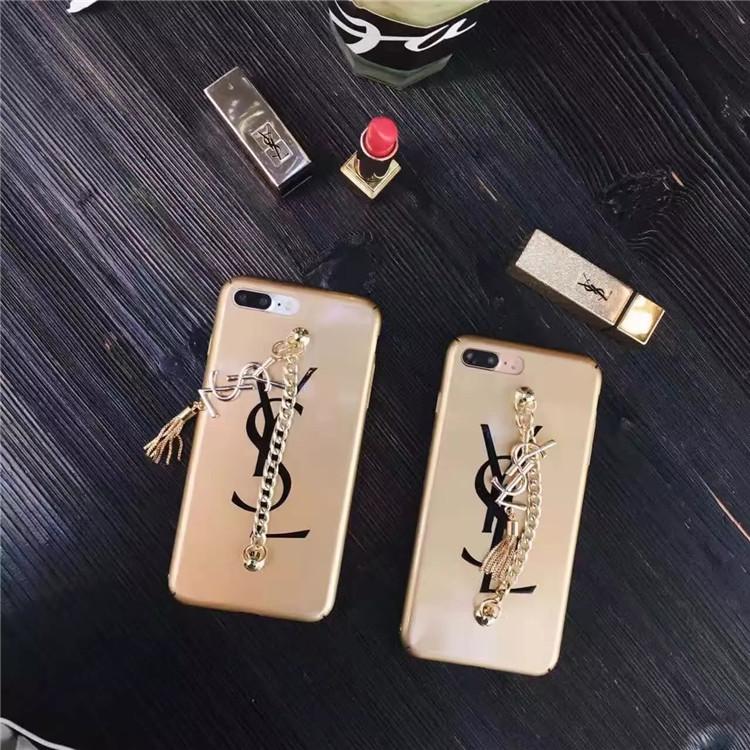 YSL アイフォン8カバー チェーン付き