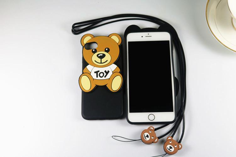 モスキーノ iPhone7ケース ストラップ付き