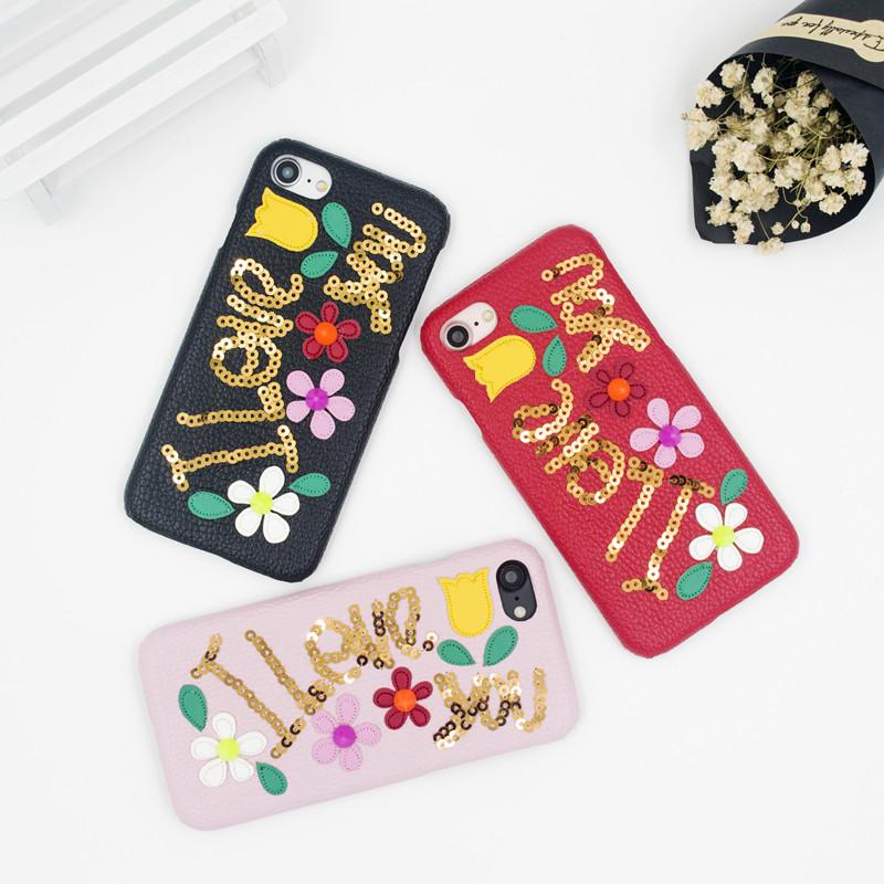 スパンコール付き D&G iPhone7ケース