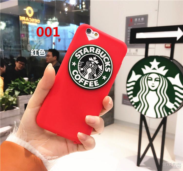 STARBUCKS アイフォン7 plusカバー 赤