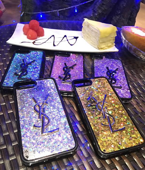 きらきら iphone8ブランドカバー YSL