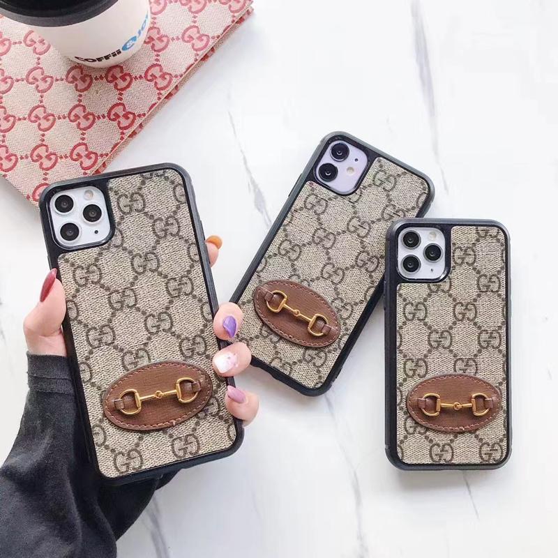 グッチ/Gucci iphone 13/13 mini/13 pro/13 pro maxケース ブランド レザー 金属チェーン付